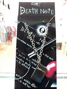 Colar Death Note Livro da Morte