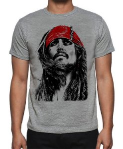 Camiseta Piratas do Caribe - Jack Sparrow