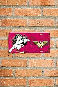 Placa de Metal Mulher Maravilha Oficial