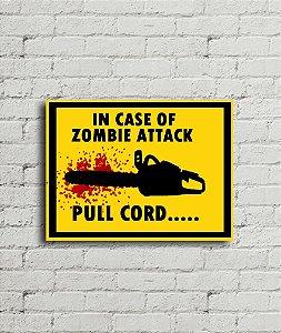 Placa de parede In Case Of Zombie Attack