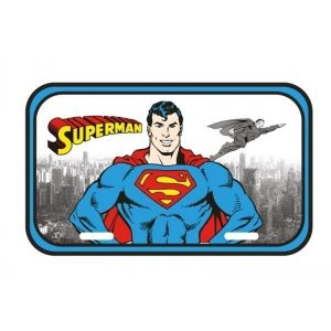 Placa de Metal SuperMan Oficial