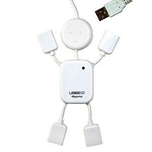 Hub com 4 Portas USB 2.0 - Modelo Boneco