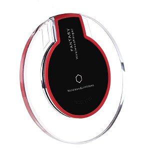 Carregador de Celular Wireless Sem Fio Fantasy + Receptor Qi de Carga Compatível com Iphone 5, Iphone 6 e Iphone 7