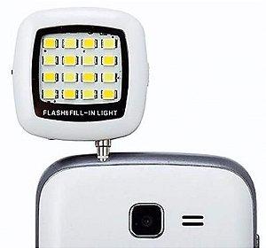 Flash Externo Universal Para Selfie com 16 Leds Para Celular, Tablet ou Câmeras
