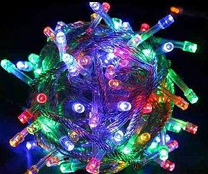 Pisca Pisca Luminoso Colorido com 4 Fases 100 Lâmpadas Led - ...