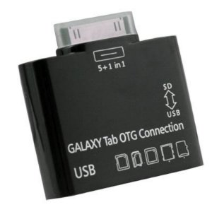Adaptador 5x1 Samsung Tablet Galaxy Tab OTG Connection Leitor de Cartão e USB