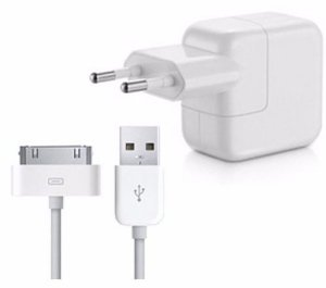 Carregador 10W e Cabo Usb Lightning para Apple Iphone 3, 4, Ipad e Ipod