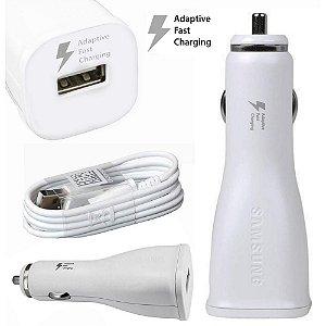 Carregador Veicular Samsung Turbo Adaptive Fast Charging e Cabo USB 15W