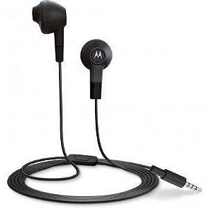 Fone Estereo Com Fio Motorola Moto Earbuds In Ear Preto MO-89719NI