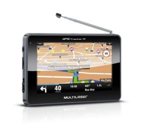 GPS Multilaser GP012 Tracker TV 2 - 4,3 Pol TV Digital, FM, Mini USB