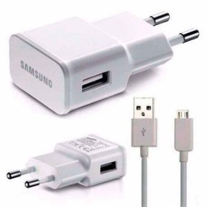 Carregador de parede Micro USB para Smartphone Samsung Galaxy - Branco