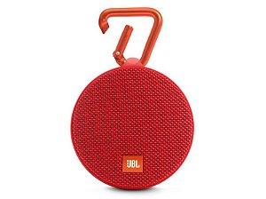 Caixa de Som JBL Clip 2 IPX7 à Prova d'água Portátil Bluetooth Vermelho