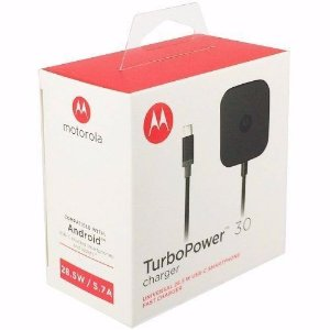 Carregador Motorola Turbo Power 30 Tipo-C Original Moto Z Play Xt1635 USB-C