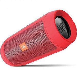 Caixa de Som Portátil JBL Charge 2+ Bluetooth 3.0 Vermelho Bateria Recarregável, Viva-Voz