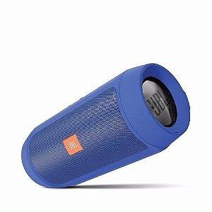 Caixa de Som Portátil JBL Charge 2+ Bluetooth 3.0 Azul Bateria Recarregável, Viva-Voz