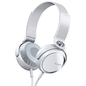 Fone de Ouvido Headphone Sony MDR-XB410AP Com Microfone e EXTRA BASS Branco