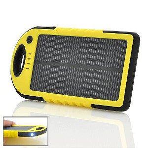 Carregador Solar Portátil com Lanterna Resistente a Àgua Power Bank 28000 Mah Universal - ES500