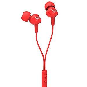 Fone de ouvido JBL C100SI IN-EAR SYNCHROS by HARMAN Vermelho