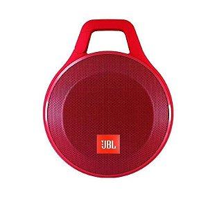 Caixa de Som Portátil JBL Clip + Vermelho Bluetooth