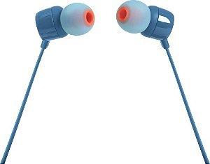Fone de Ouvido JBL TUNE T110 by HARMAN  Intra-Auricular com Microfone - Azul