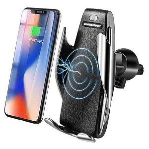 Carregador Veicular por Indução com Movimento Automático Suporte Qi Smart Sensor Wireless Charger S5