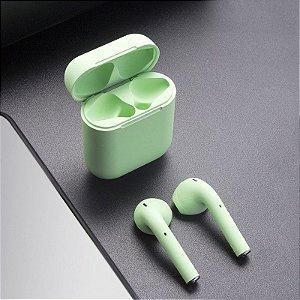 Fone de Ouvido Wireless inPods 12 TWS Bluetooth 5.0 para Iphone e Android - Verde