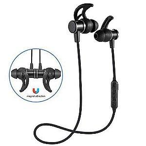 Fone de Ouvido Estéreo Sem Fio Bluetooth Sports TWS SLS-100 Magnético para Android e IOS