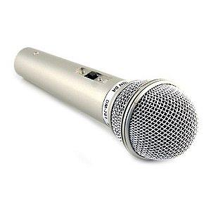 Microfone wvngr Dinâmico DM-401 Prata