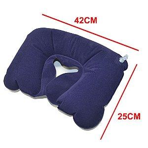 Travesseiro de Viagem Inflável Colorido Leve e Confortável