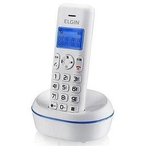 Telefone sem Fio TSF 5001 , Branco com Azul, Identificador de ...