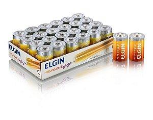 Pilha C R14 Zinco Carvão Bandeja com 24 unidades - Elgin