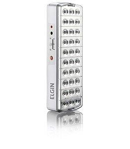 Luminária de emergência com 30 Lâmpadas de LED e Botão Teste - Elgin