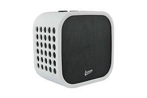 Caixa de Som Bluetooth 10W RMS, c/ Microfone Integrado p/ Realizar Chamadas, Bateria Recarregável, Entrada Auxiliar P2, 4433 Branco - LEADERSHIP