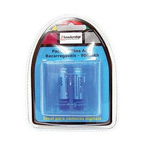 Pack com 2 Pilhas AAA Recarregáveis 900mAh