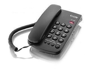Telefone Com fio de Mesa Elgin c/ Bloqueador TCF-2000 Preto