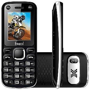 """Celular Desbloqueado Freecel Free Cross Preto Dual Chip, Tela de 1.7"""", Câmera VGA, Bluetooth, MP3 e Rádio FM"""