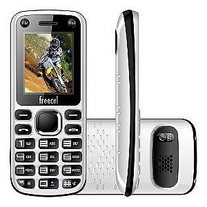 """Celular Desbloqueado Freecel Free Cross Branco Dual Chip, Tela de 1.7"""", Câmera VGA, Bluetooth, MP3 e Rádio FM"""