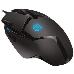 Mouse Logitech Óptico G402 Gamer Hyperion Fury 8 Botões 4000 DPI USB (910-004083)