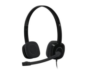 Fone de Ouvido com Microfone Stereo Headset H151 BLACK Logitech - 981-000587