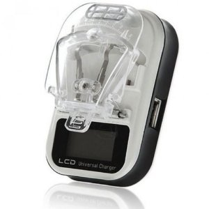 Carregador Universal Digital LCD Para bateria de Celular