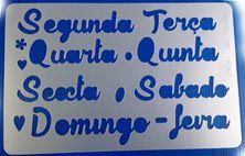 """Molde vazado/estêncil para pintar """"Semaninha"""""""