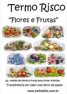"""Apostila Termo Risco """"Flores e Frutas"""""""