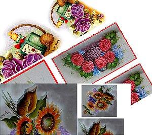 PAPEL PARA DECOUPAGE - camélia,rosas e girassol