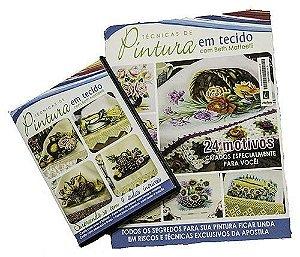 DVD  Curso de pintura em tecido e Apostila de riscos - Tema Flores e Frutas