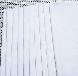 Pacote com 10 panos de copa, bainha feita em tecido sacaria extra qualidade 100% algodão