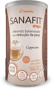 até 24x de 6% Desconto SHAPE SANAFIT - SABOR CAPPUCCINO