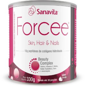FORCEE HAIR E NAILS LARANJA SANAVITA 300G