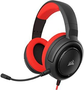 Headset Gamer HS35 Stereo Preto e Vermelho - Corsair