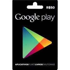Cartão Gift Card Google Play R$50