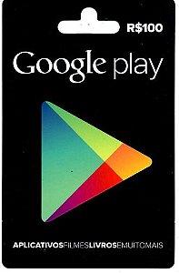 Cartão Gift Card Google Play $100